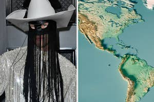 Side-by-side images of Orville Peck and the Americas