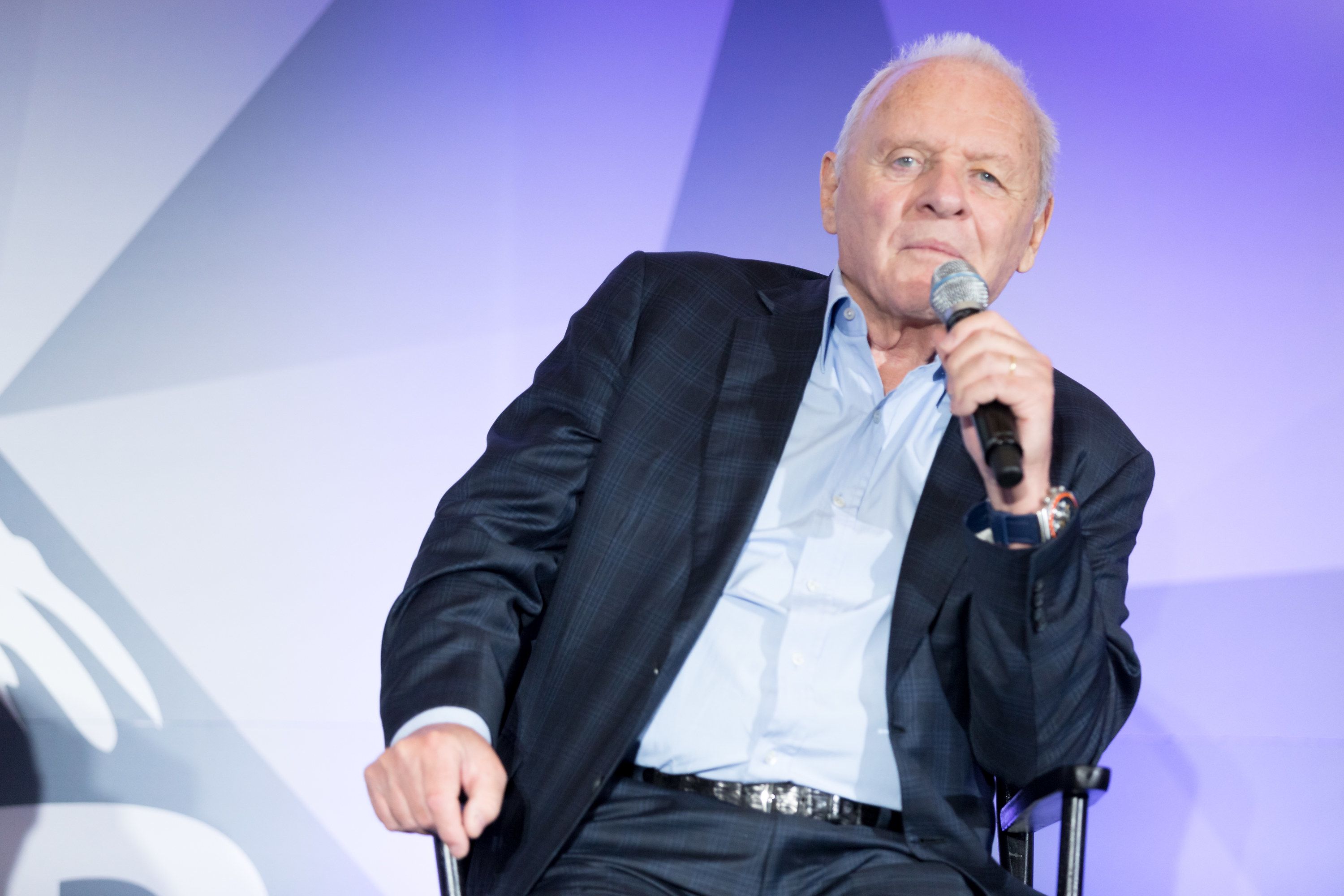 Sir Anthony Hopkins attends the LEAP Foundation on July 25, 2018 in Los Angeles, California