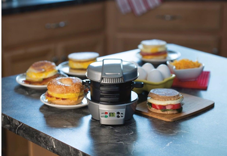 The breakfast sandwich maker