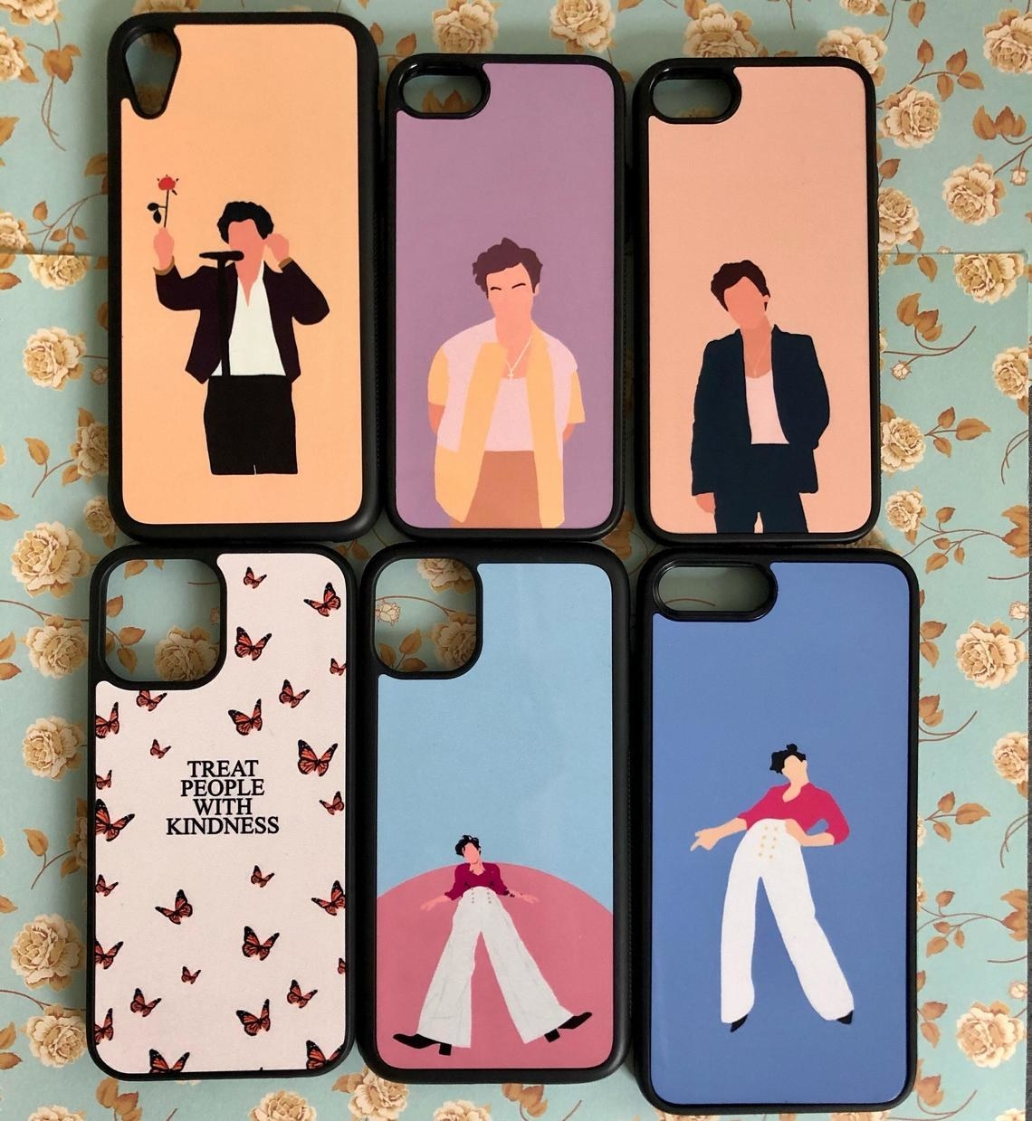 Six cases with Harry Styles designs