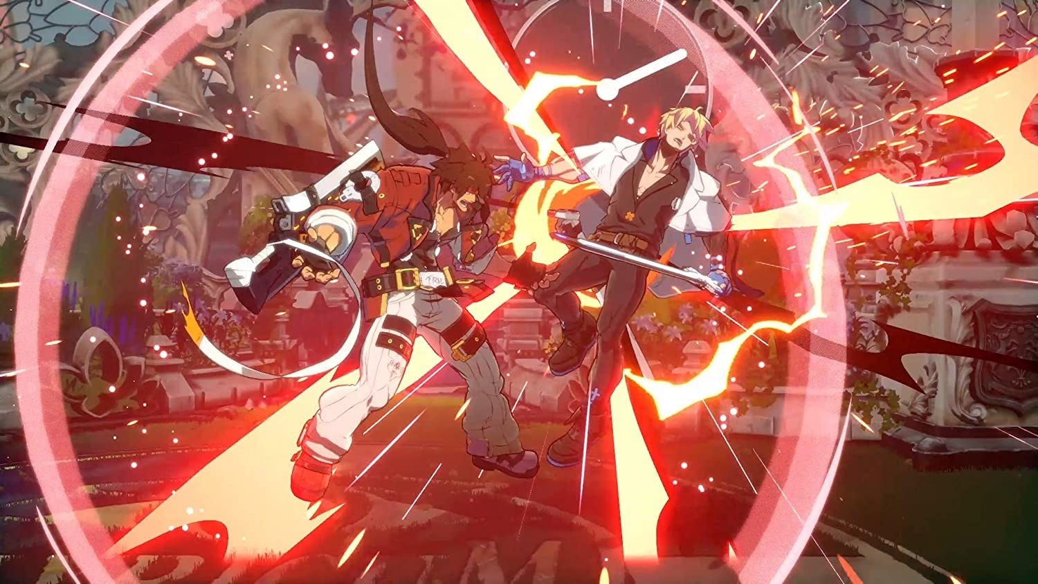Anime characters fighting in Guilty Gear Strive