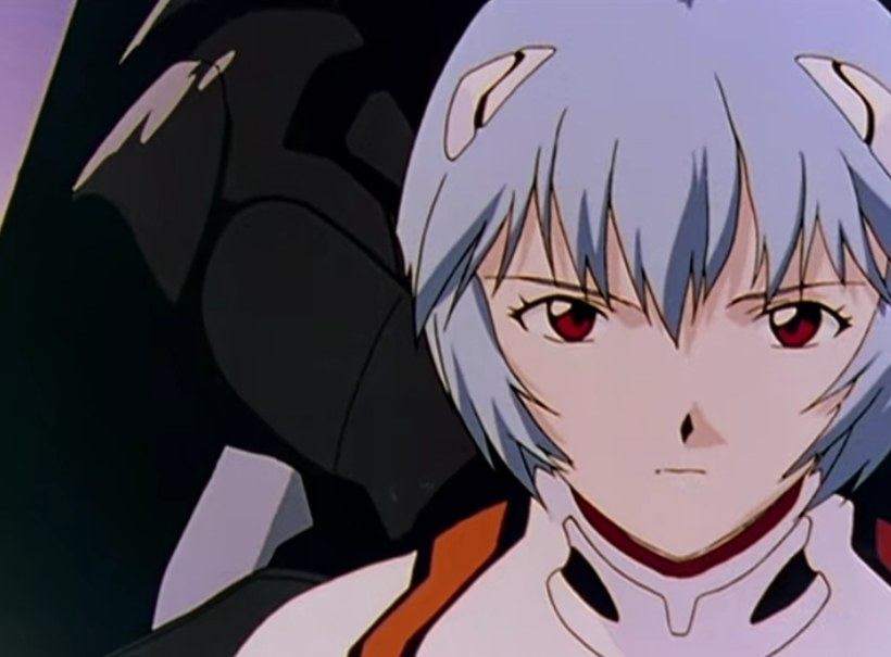 Rei Ayanami looks on within her EVA