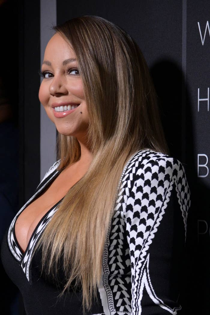 """Mariah Carey attends Tyler Perry's """"A Fall From Grace"""" New York premiere at Metrograph on January 13, 2020 in New York City"""