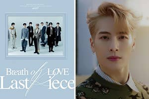 Got7 album cover and a picture of Jackson Wang