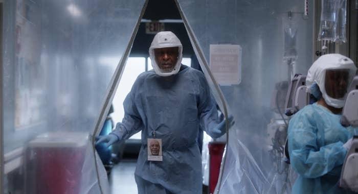 Richard dressed in full PPE