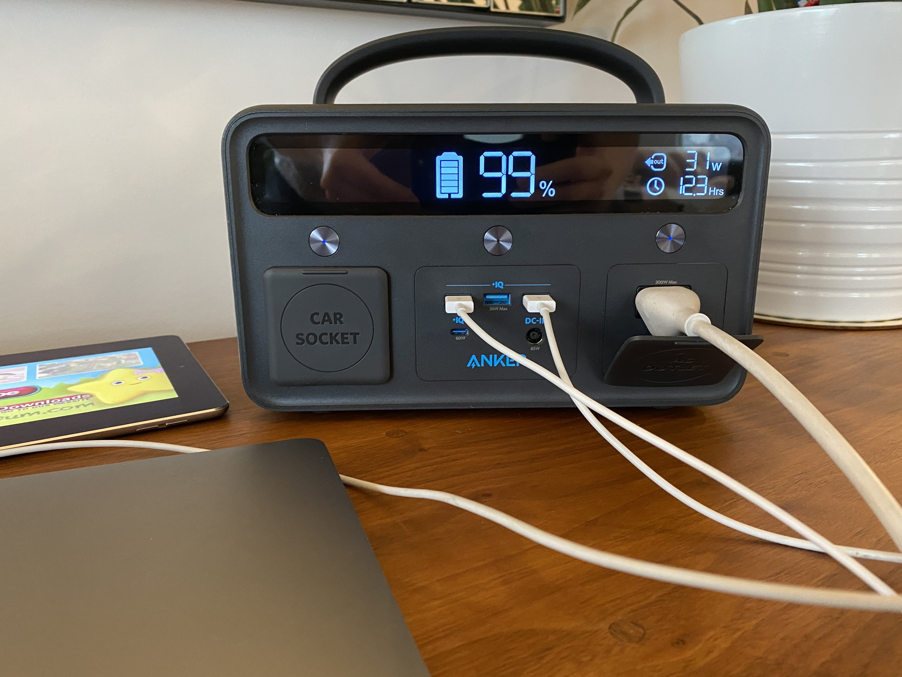 The battery charging multiple devices