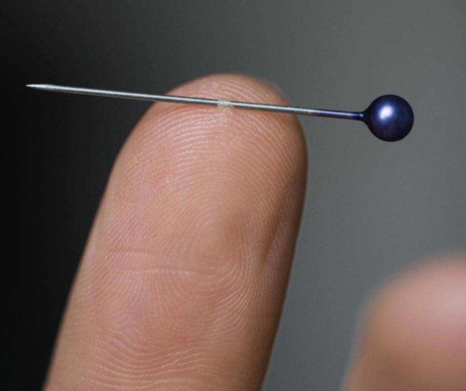 pin through a finger