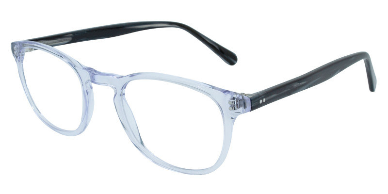 glasses with lucite blue frames