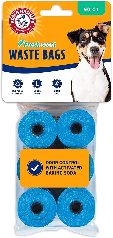 Six rolls of blue waste bags