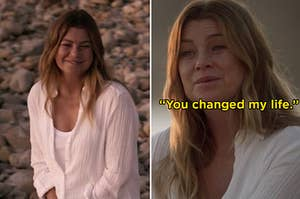 Meredith from Grey's Anatomy on the beach