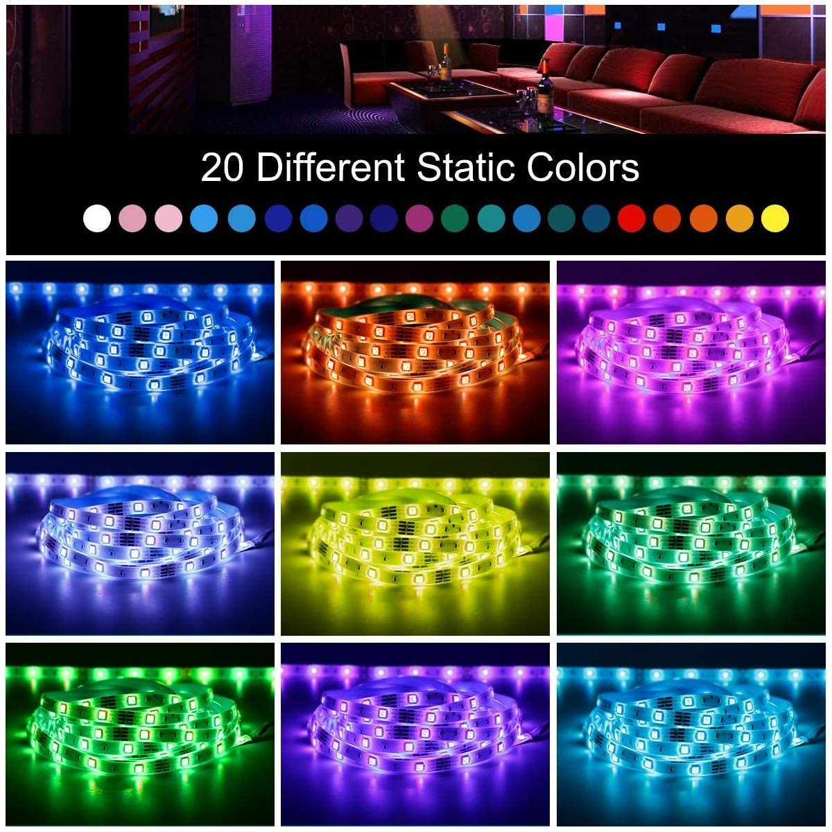 The string light in 20 colors