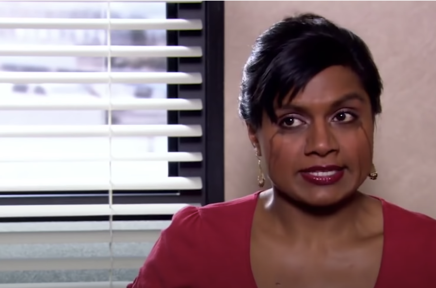 """Mindy crying in an episode of """"The Office"""""""