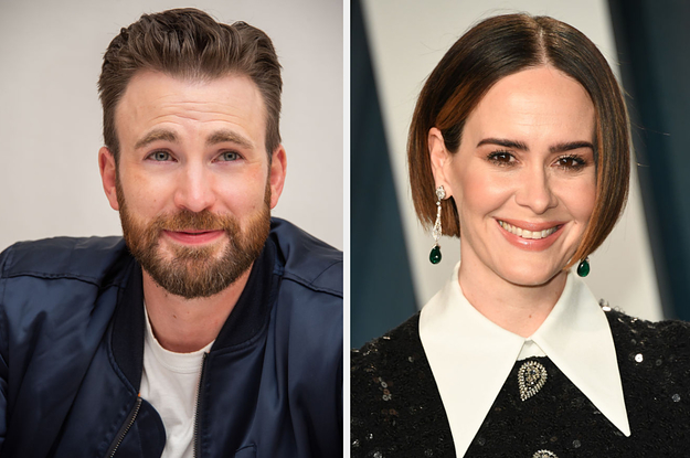 Sarah Paulson Wore A Hilariously Identical Sweater To That Iconic Knives Out Sweater, And I Love Chris Evans Reaction
