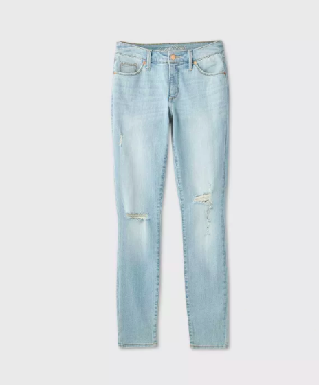 the light wash mid-rise pants