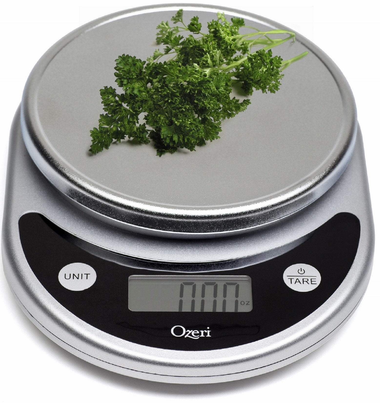 The silver scale with a sprig of parsley