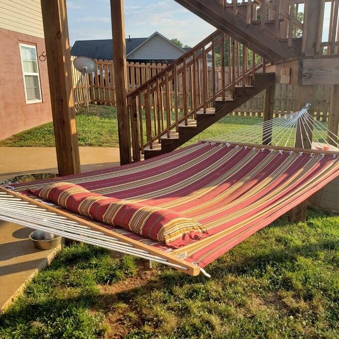 The red stripe hammock