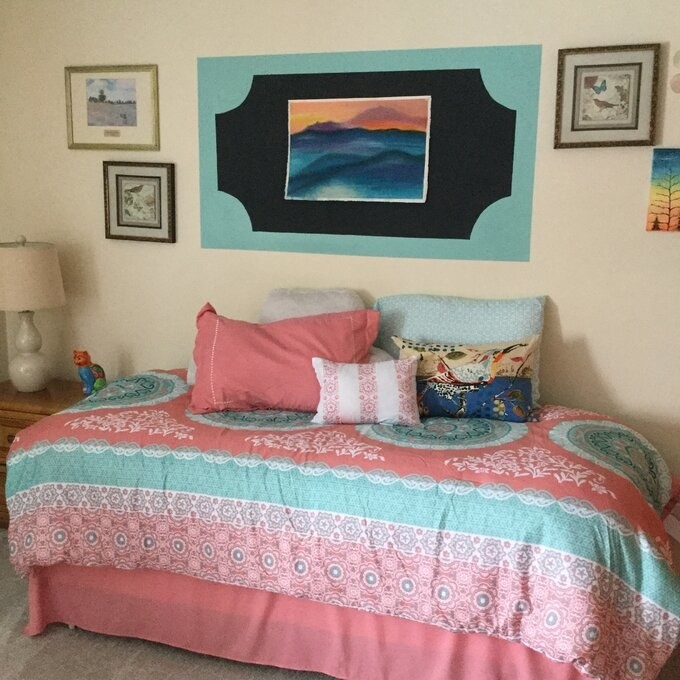 The coral comforter set