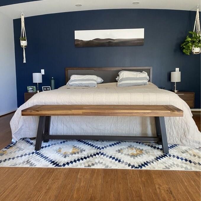 The ivory area rug