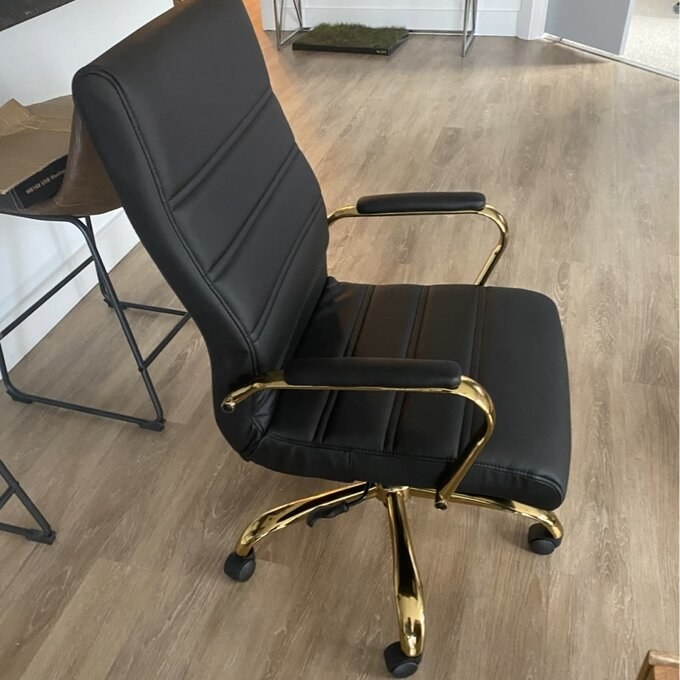 The black and gold executive chair
