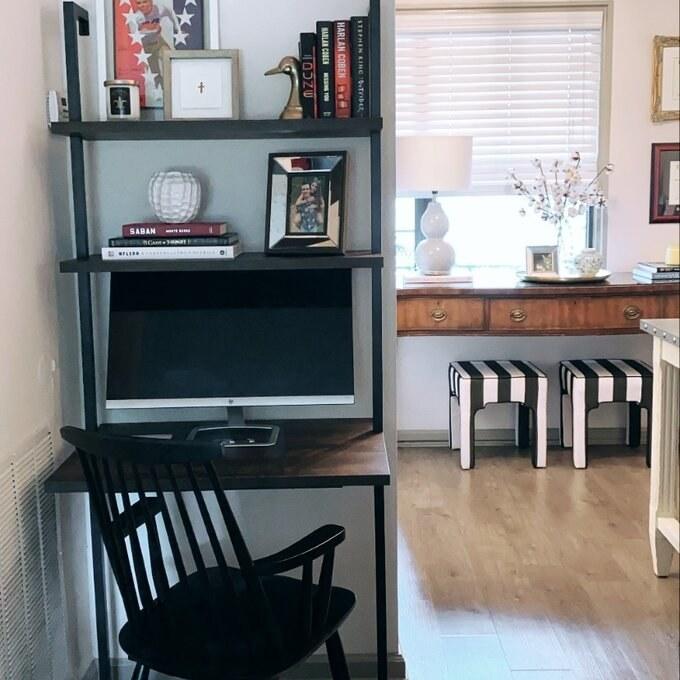 The nutmeg/black ladder desk