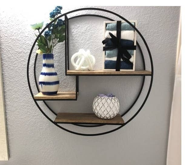 The powder coated accent shelf