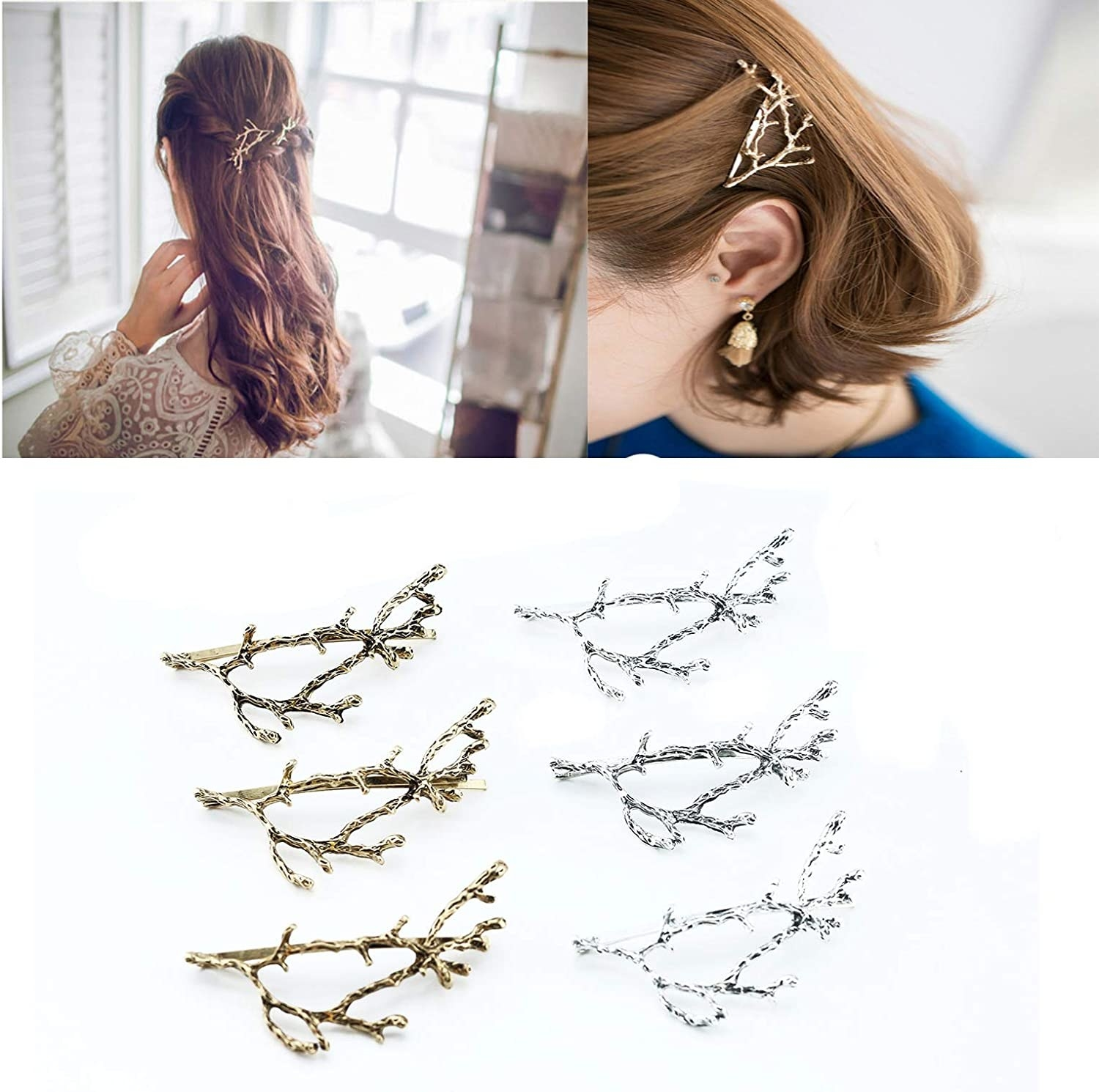 branch-shaped hair clips