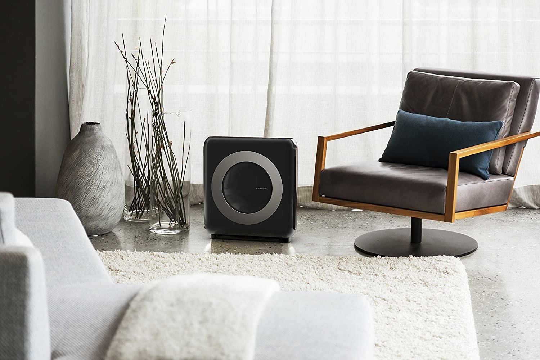 The square black air purifier