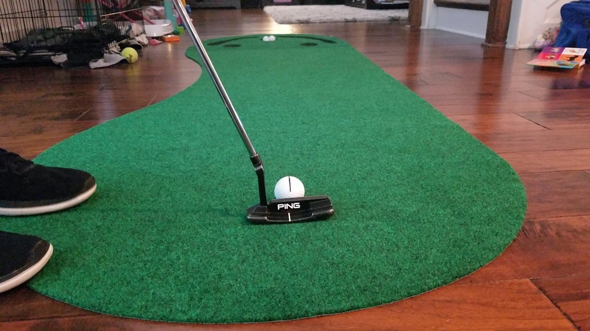 putting green in living room