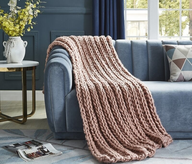The blush throw blanket