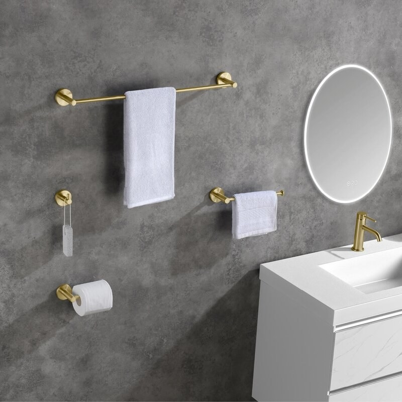The four-piece bathroom hardware set
