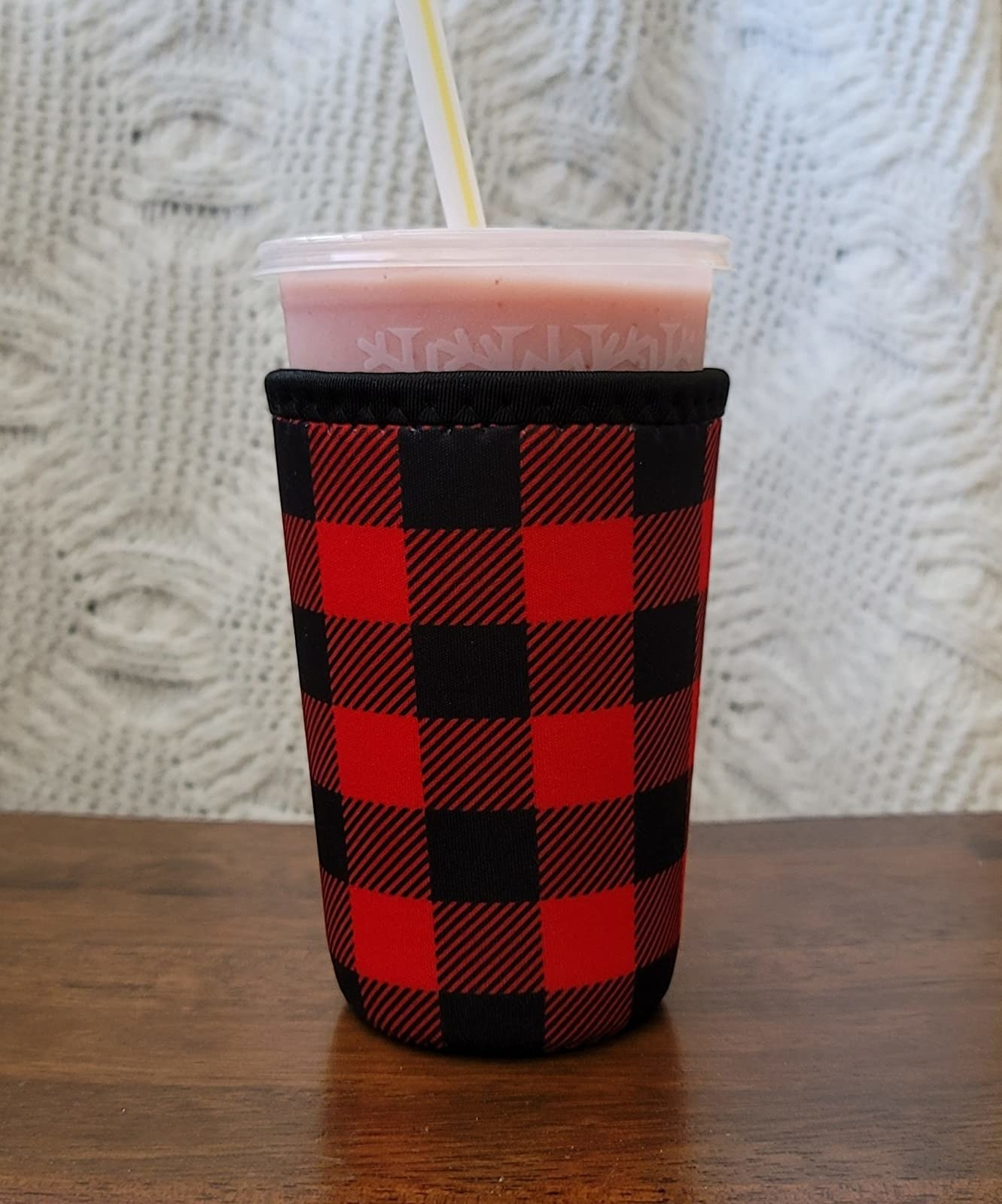A smoothie in the koozie