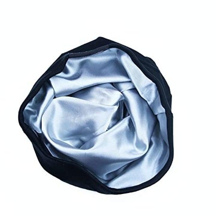 the silk lining inside the cap