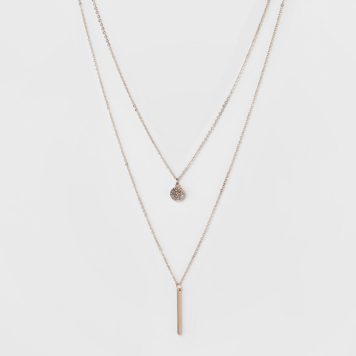 Rose gold double necklace