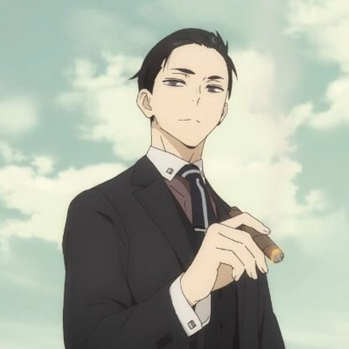 Daisuke Kanbe smirking while holding a lit cigar in his right hand