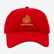 The red Fire Nation cap with gold embroidered logo