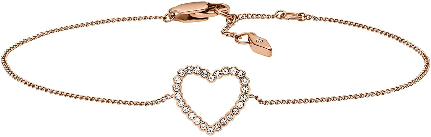 Rose gold bracelet with lobster clasp enclosure