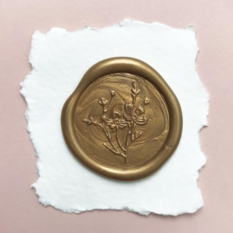 A wax seal on a piece of paper