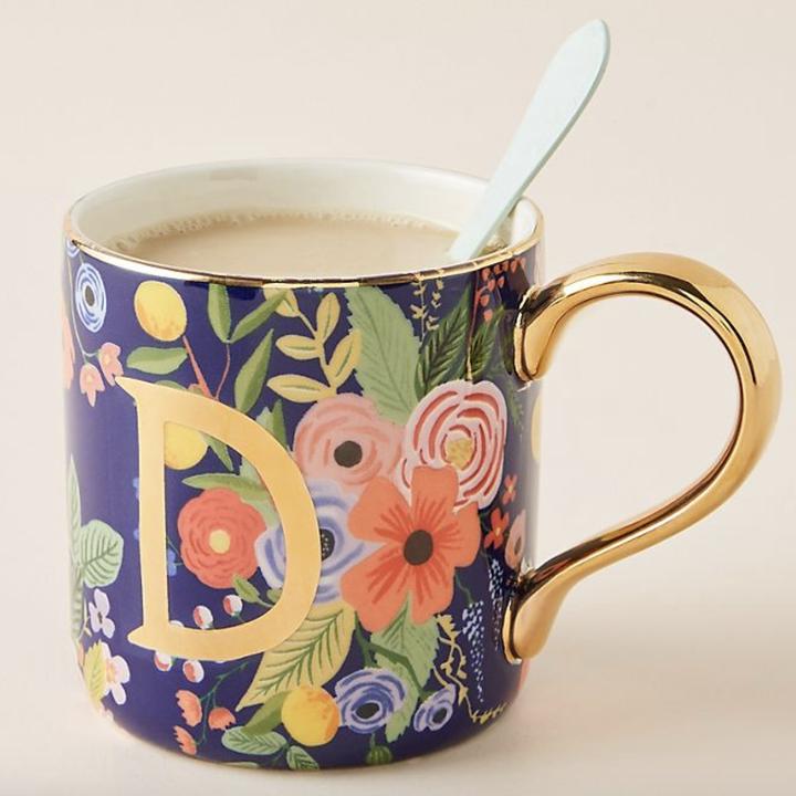 the blue and gold mug