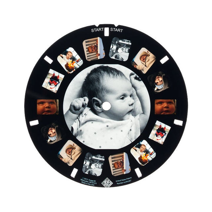 A reel insert with photos