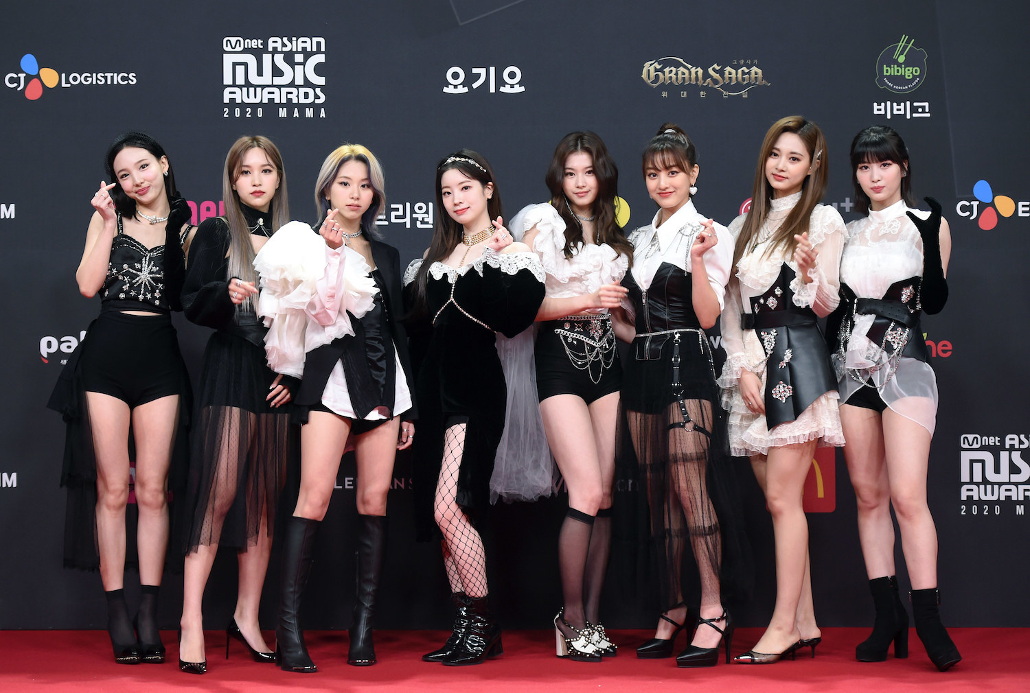 TWICE attends the 2020 Mnet Asian Music Awards