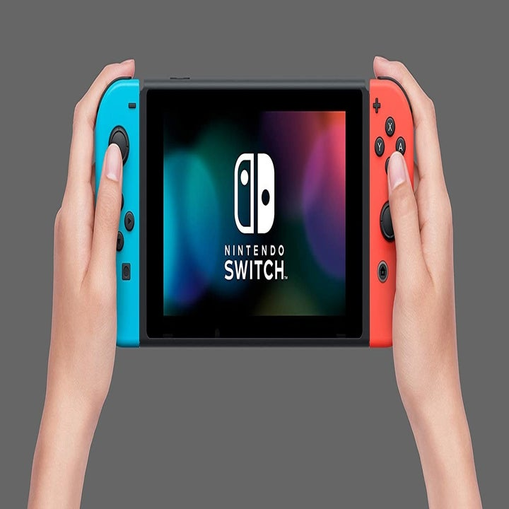 the blue and red nintendo switch