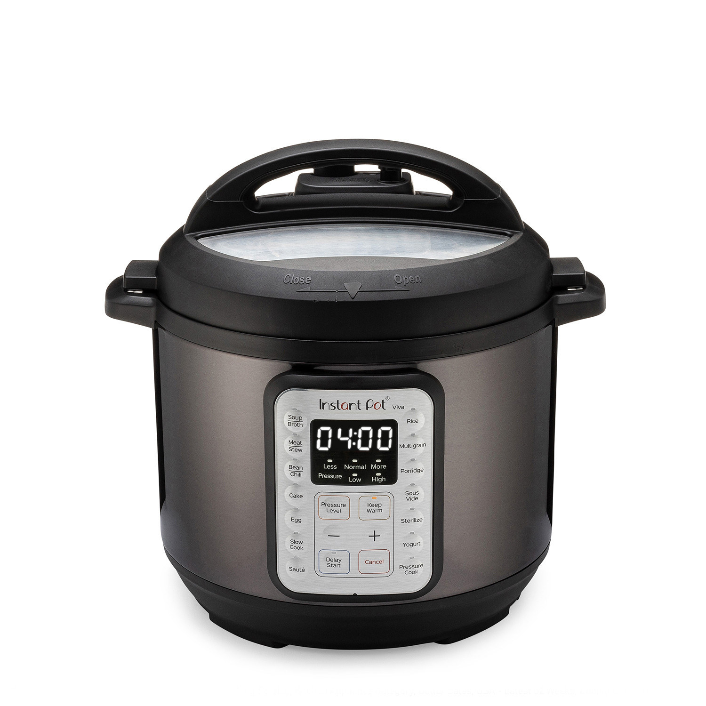 The black pressure cooker