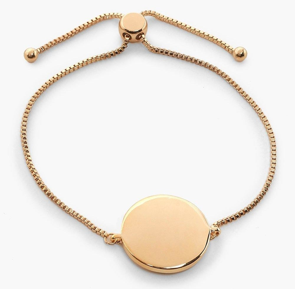 Boohoo sliding clasp coin bracelet