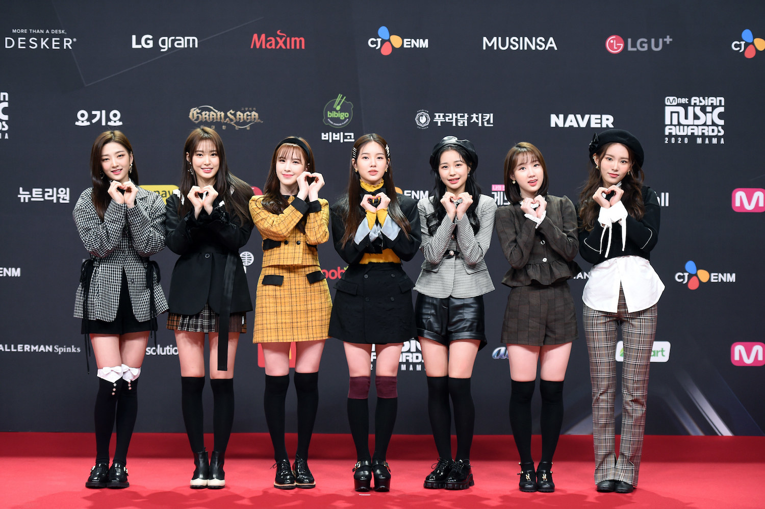 Weeekly attends the 2020 Mnet Asian Music Awards