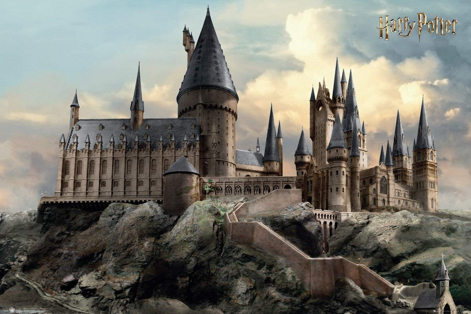 Hogwarts standing tall and strong on the hill