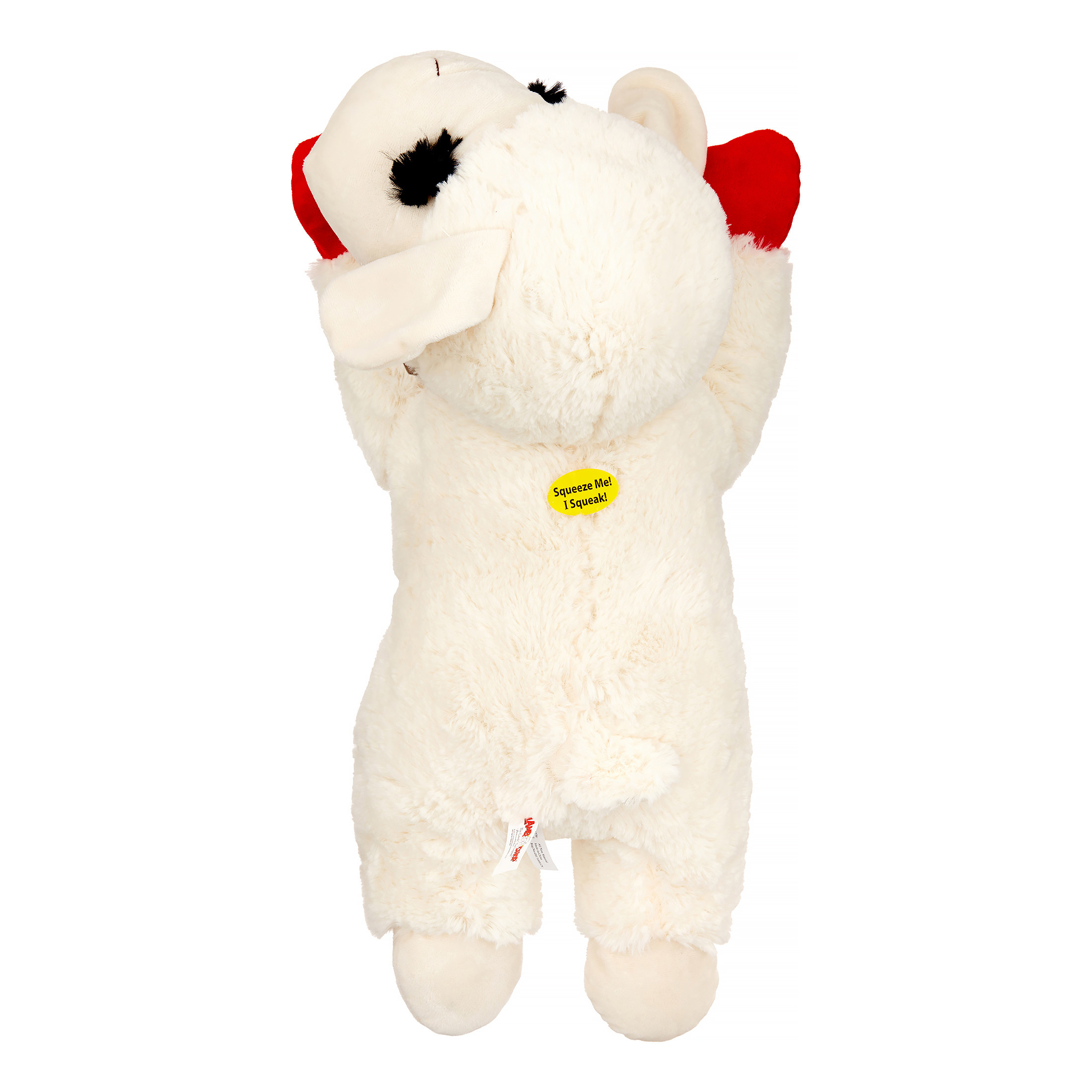 The fluffy white lamb toy