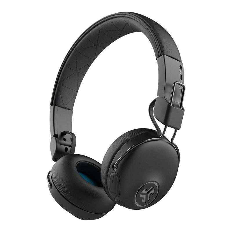 The black over ear headphones