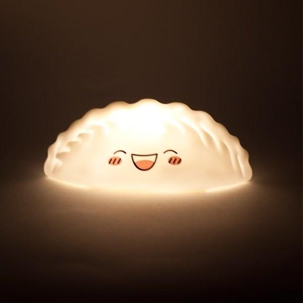 The smiling, lit dumpling