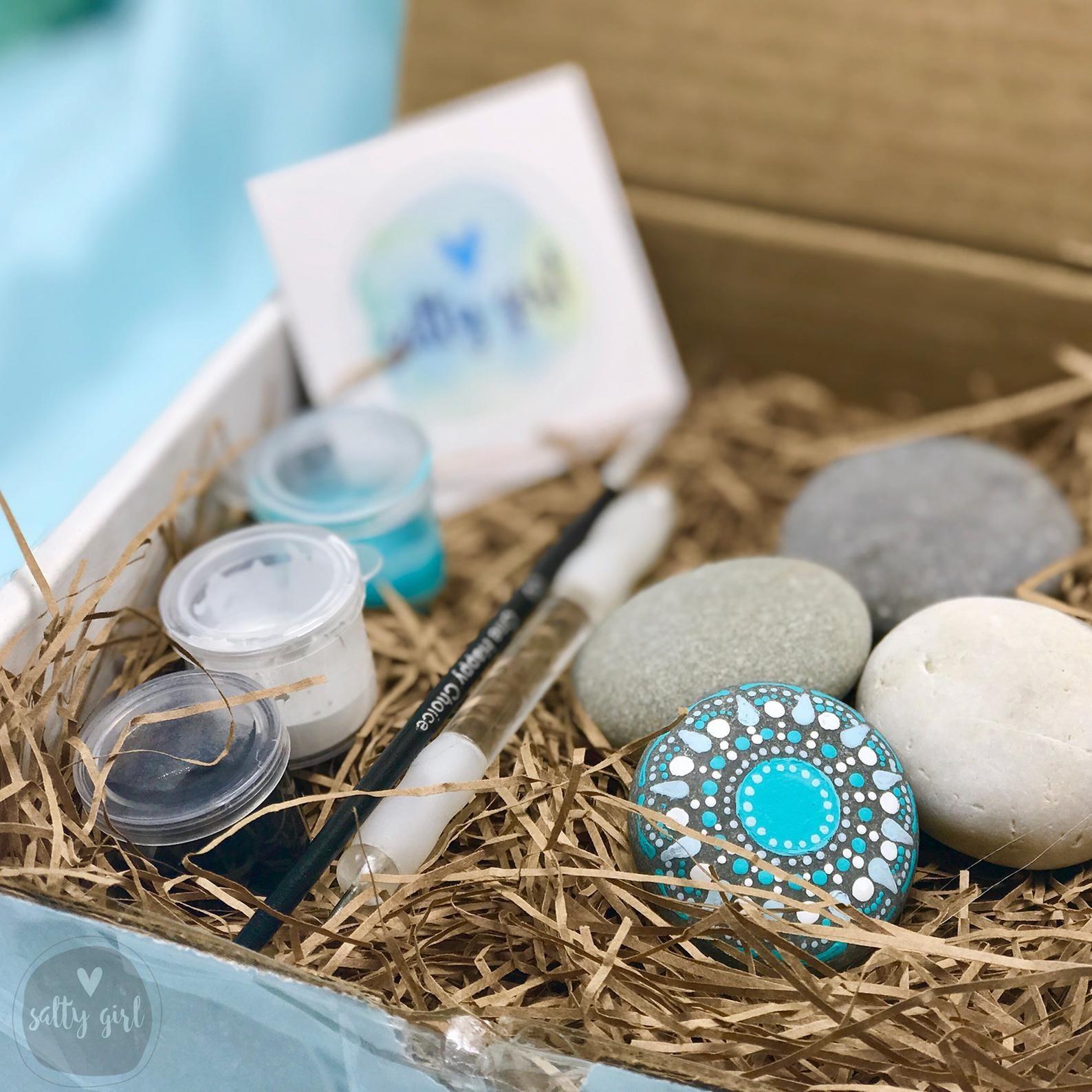 the DIY beach stone meditative mandala kit