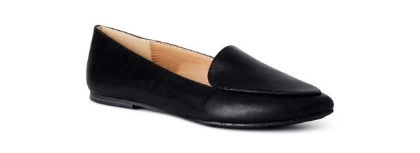 The black pointy flat